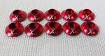 Red Anodized Washer set 3.0MM